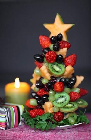 Елка из фруктов своими руками