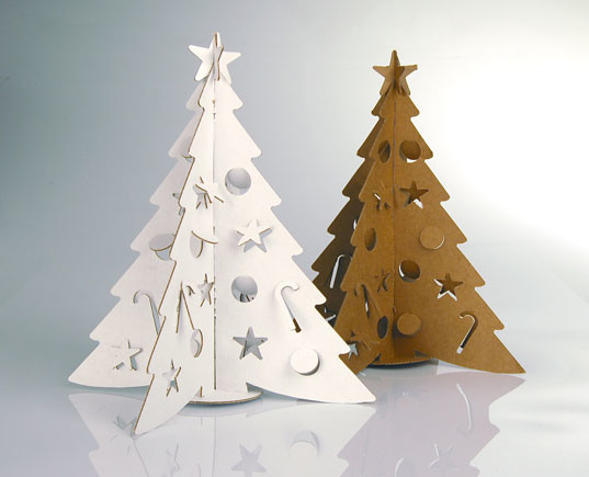 Объемная елка из картона