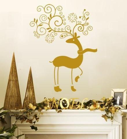 Новогодний декор стены