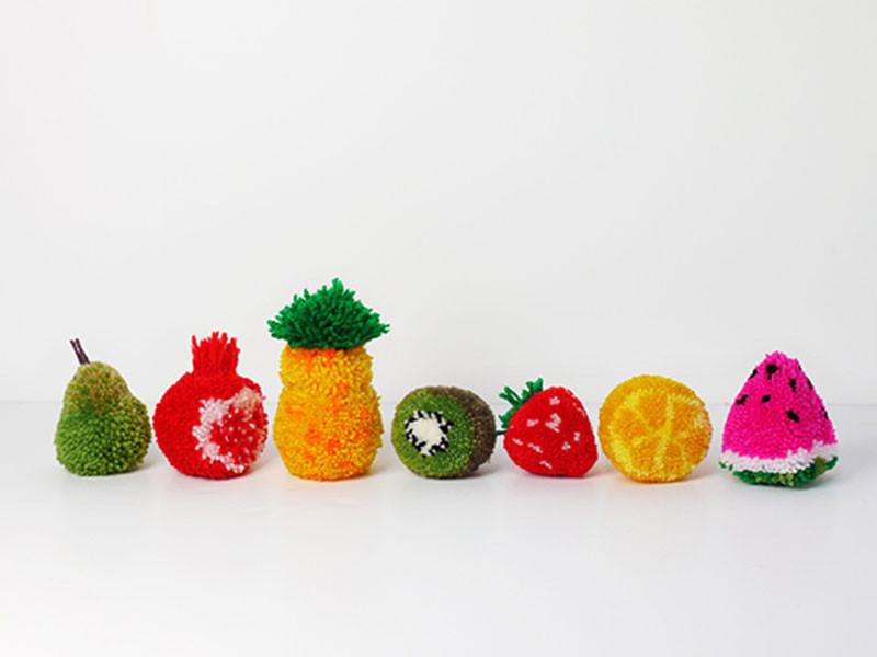 Овощи из помпонов