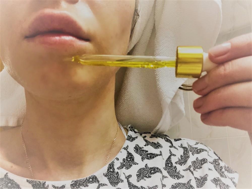 Как наносить масло на лицо