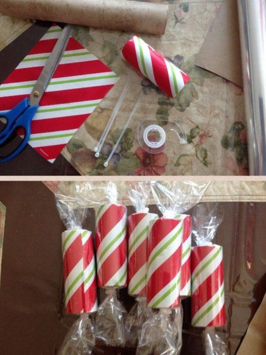 Упаковка для конфеты из втулки