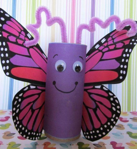 Бабочка из туалетной втулки своими руками