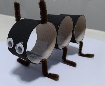 Гусеница из туалетной втулки