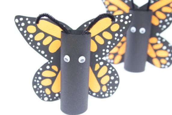 Бабочка из втулки от т/б