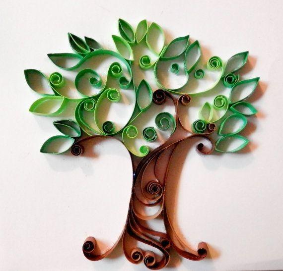 Дерево из туалетной втулки