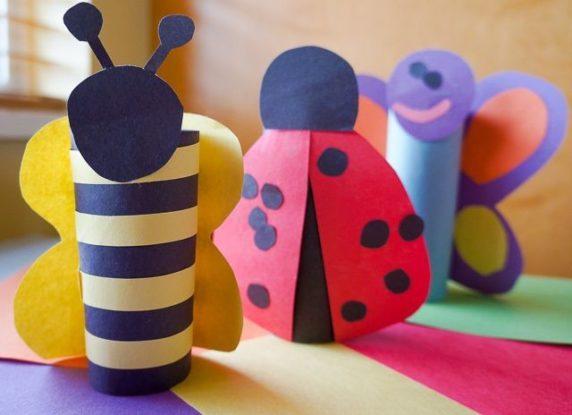 Пчела из втулки от бумаги