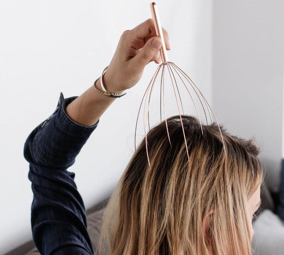 Массаж от выпадения волос