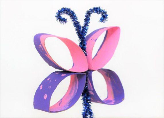 Бабочки из картонной втулки