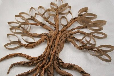 Дерево из картонной втулки