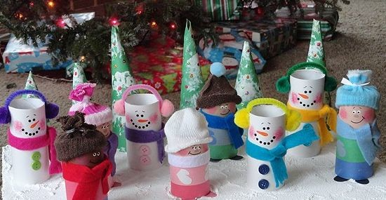 Новогодние игрушки из втулок
