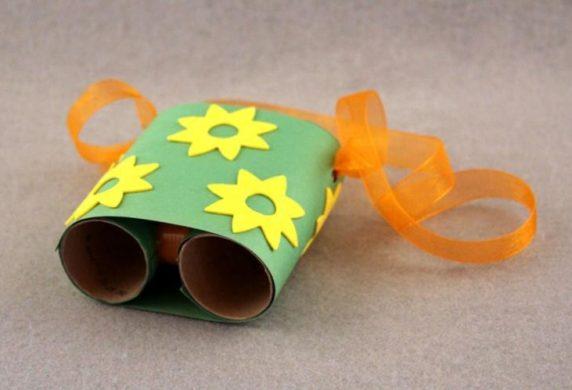 Бинокль для ребенка из втулок от бумаги своими руками
