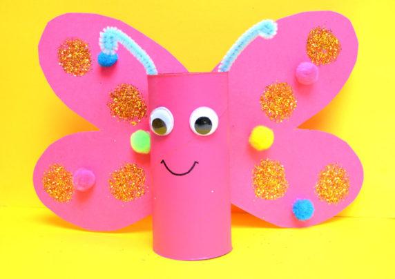 Бумажная бабочка из втулки