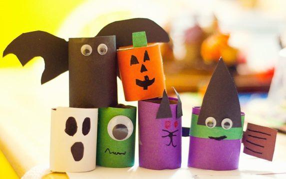 Поделки для Хэллоуина из втулок