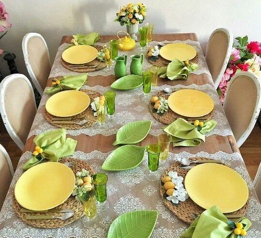 Сервировка стола с дизайнерской посудой