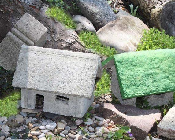Цементная поделка для сада своими руками