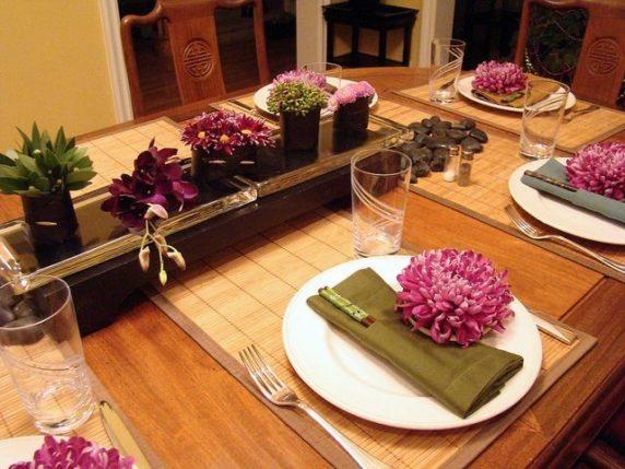 Сервировка стола в тропическом стиле