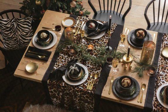 Сервировка стола в леопардовом стиле