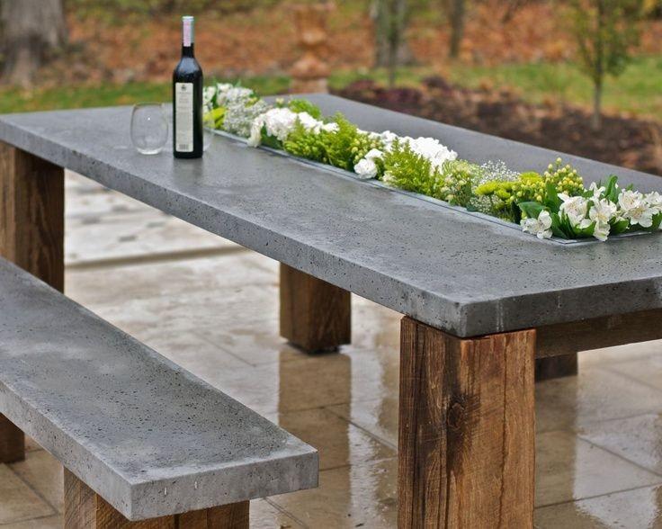 Садовая мебель из цемента