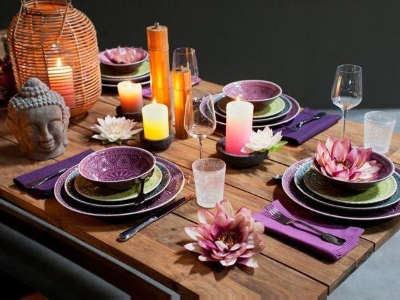 Сервировка стола в гавайском стиле