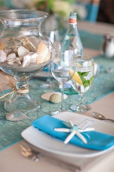 Морская сервировка стола