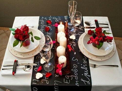 Сервировка стола на свидание