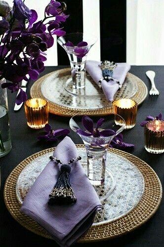 Сервировка стола для романтического свидания