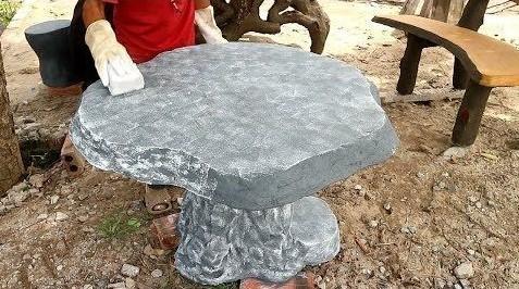 Садовый стол из бетона своими руками