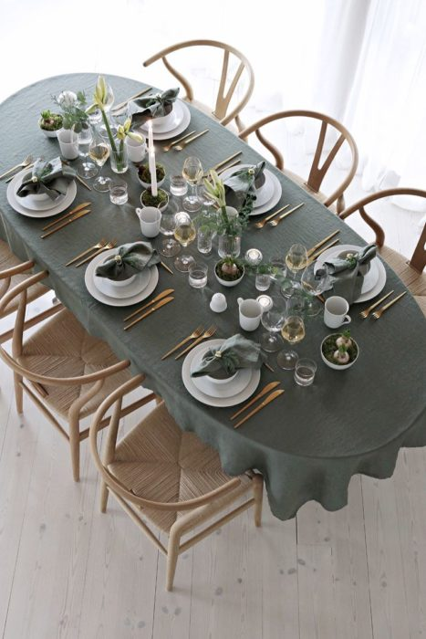 Сервировка стола для встречи гостей