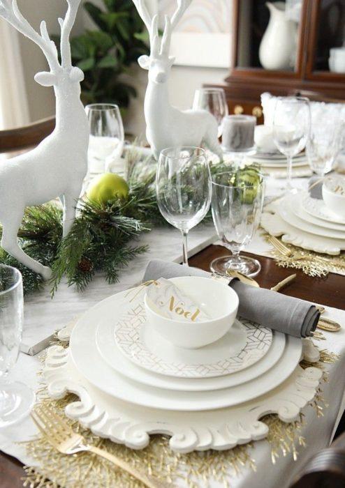 Новогодняя сервировка стола для гостей