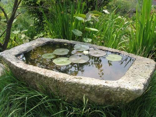 Садовый прудик из цемента своими руками