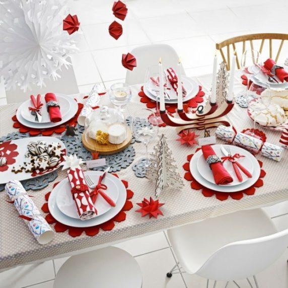 Сервировка стола новогодняя