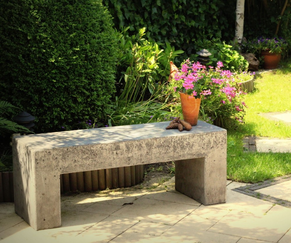 Садовая скамейка из цемента своими руками