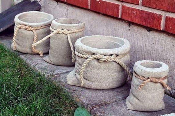 Садовый цементный мешок своими руками