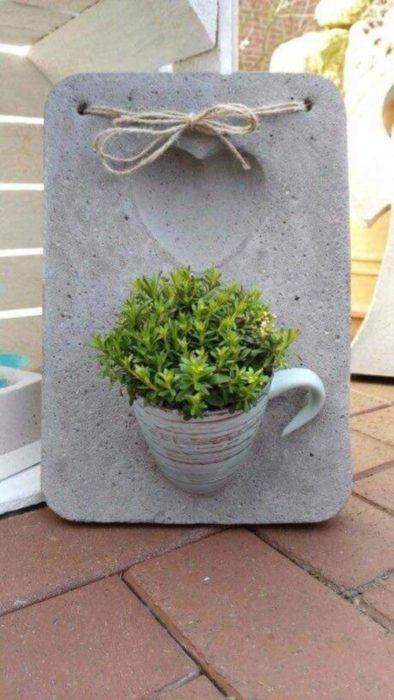 Панно из цемента для сада