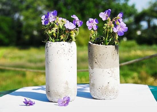 Ваза из бетона для сада своими руками
