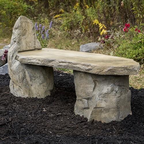 Садовая скамейка из бетона своими руками