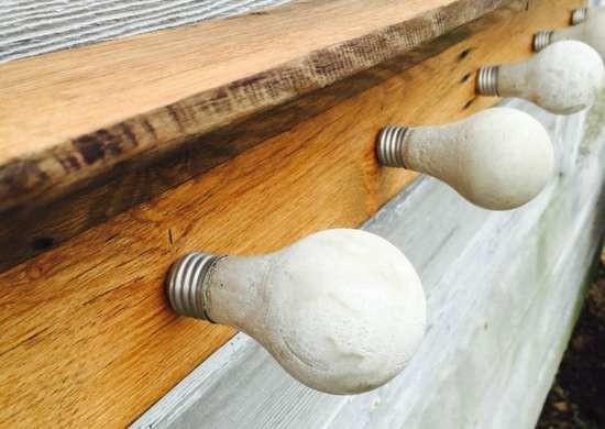 Декоративные лампочки из цемента