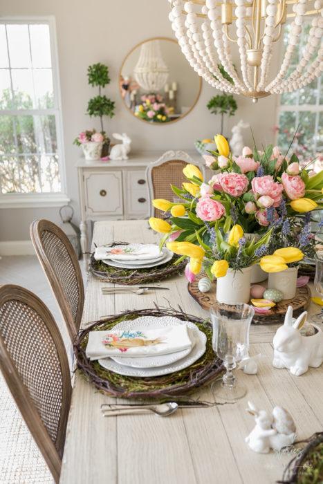 Весенняя сервировка стола