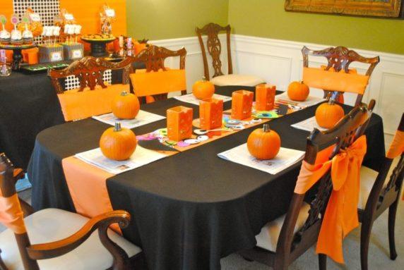 Оранжевая сервировка для стола