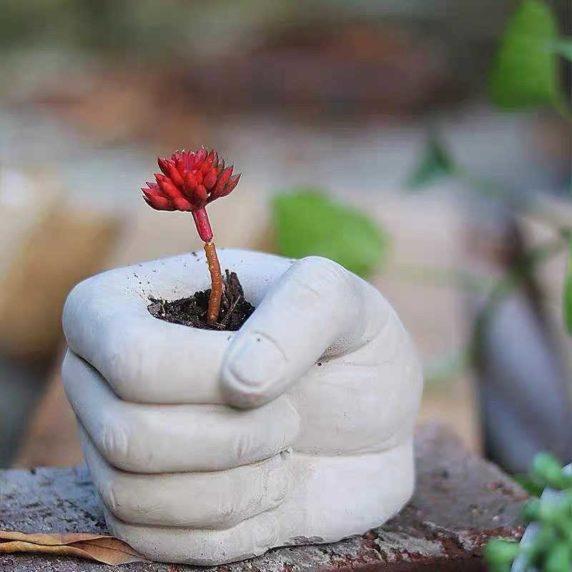 Инсталляция из цемента для сада своими руками