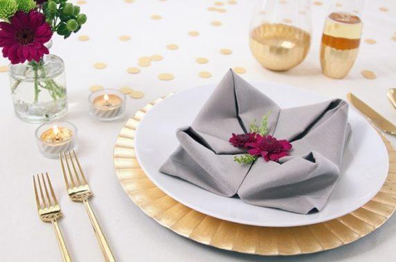 Тканевые салфетки для сервировки стола