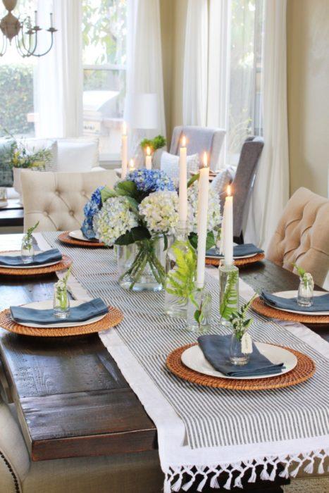 Повседневная сервировка стола на ужин