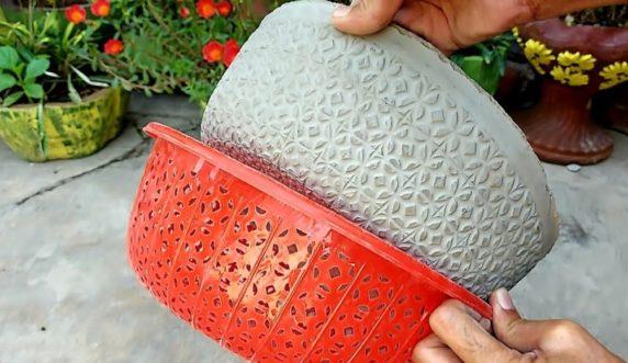 Форма для поделок из цемента для сада