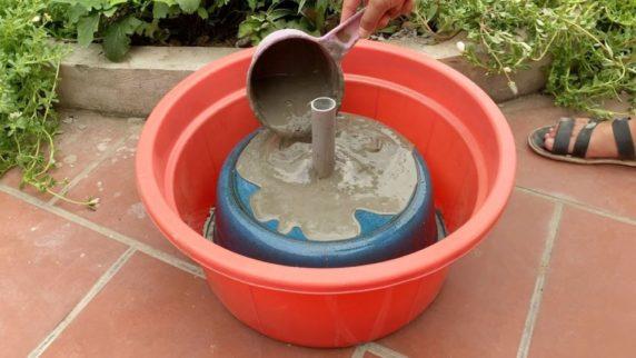 Как сделать фонтан из цемента своими руками