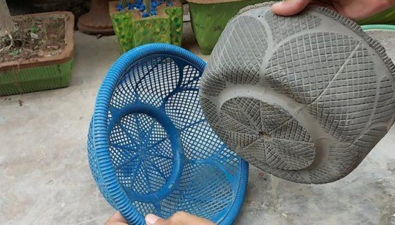 Садовая форма для цемента