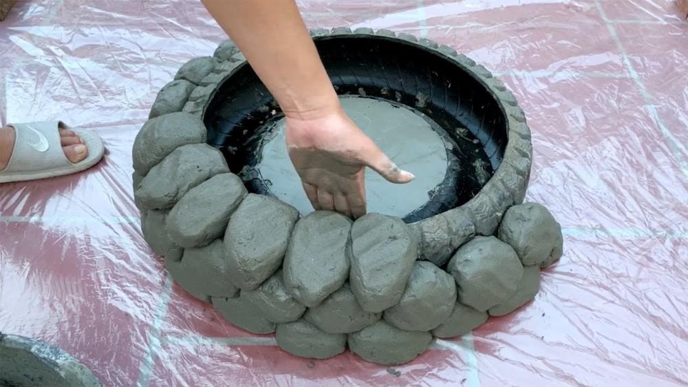 Садовый пруд из цемента своими руками