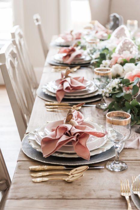 Оригинаьная свадебная сервировка стола
