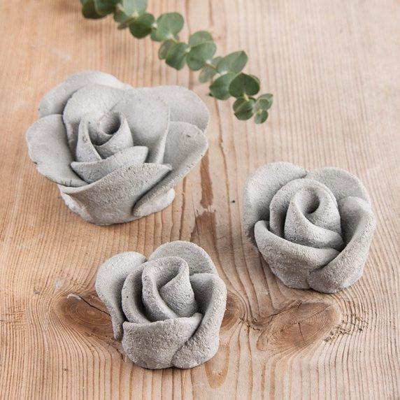 Цементный цветок своими руками