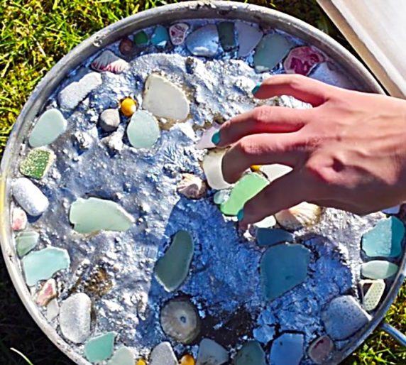 Самодельные садовые поделки из цемента и камней